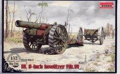 Roden 716 WWI BL 8-inch Howitzer Mk. VI 1/72