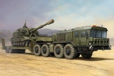 Trumpeter 01039 Russian KZKT-7428 Transporter with KZKT-9101 Semi-Trailer 1/35