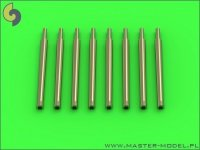Master SM-350-084 IJN 12,7cm/50 (5in) 3rd Year Type barrels - for turrets with blastbags (8pcs) - most IJN destroyers built 1930-1945 (1:350)