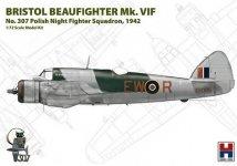 Hobby 2000 72003 Bristol Beaufighter VIf 307 Polish Night Fighter Squadron 1942 1/72