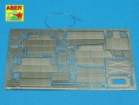 Aber 35A109 Storage boxes and additional equipment for german tank Pz.Kpfw. 38 (t) (1:35)