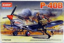 Academy 12456 P-40 B Tomahawk (1:72)(1655)
