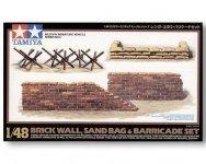 Tamiya 32508 Brick Wall Sand Bag Barricade Set (1:48)