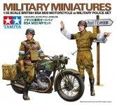 Tamiya 35316 British BSA M20 Motorcycle w/Military Police Set (1:35)