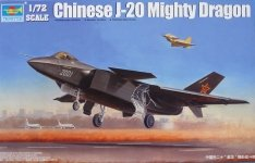 Trumpeter 01663 Chinese J-20 Mighty Dragon (1:72)