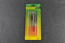 Trumpeter 09964 Assorted needle files set (Middle-Toothed)-3*140mm
