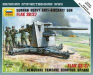 Zvezda 6158 German Heavy Anti-Aicraft Gun FLAK 36/37 (8,8cm) Art of Tactic (1:72)