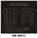 Montex SM48511 PERCIVAL PROCTOR DORA WINGS 1/48