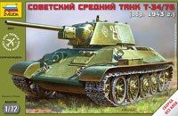 Zvezda 5001 Soviet medium tank T34/76 m.1943 (1:72)