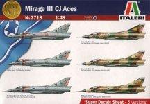 Italeri 2718 Dessault-Breugeut Mirage IIIC Aces (1:48)