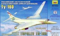 Zvezda 7002 Russian Supersonic Strategic Bomber Tu-160 (1:144)
