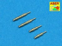 Aber A48 003 Set of 4 barrels tips for German 7,92 mm MG 17 aircraft machine guns (1:48)