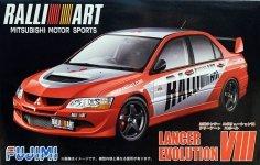 Fujimi 038179 Mitsubishi Lancer Evo 8 Ralli Art 1/24
