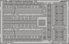 Eduard 72655 SB2C-5 Helldiver landing flaps SPECIAL HOBBY 1/72