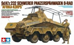 Tamiya 35297 German 8-Wheeled Heavy Armored Car Sd.Kfz.232 Africa-Corps (1:35)