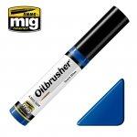 AMMO of Mig Jimenez 3504 Oilbrusher DARK BLUE - farba olejna z pędzelkiem