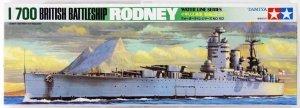 Tamiya 77502 British Battleship Rodney 1/700