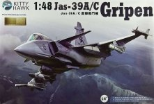 Kitty Hawk 80117 Jas-39 A/C Gripen (1:48)