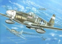 Kovozavody Prostejov KPM0030 North-American P-51B Mustang Ding Hao, USAAF 1:72