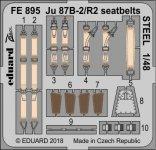 Eduard FE895 Ju 87B-2/ R2 seatbelts STEEL AIRFIX 1/48