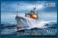 "IBG 70008 HMS ""Glowworm"" (1938) G-Class Destroyer 1/700"