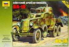 Zvezda 3617 BA-10 SOVIET ARMORED CAR (1:35)