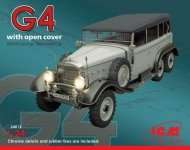 ICM 24012 G4 with open cover WWII German Personnel Car