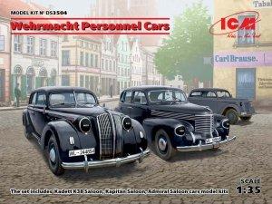 ICM DS3504 Wehrmacht Personnel Cars (Kadett K38 Saloon, Kapitan Saloon, Admiral Saloon) 1/35