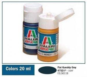 Italeri 4752 FLAT GUNSHIP GRAY 20ml