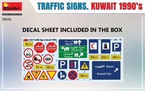 Miniart 35631 TRAFFIC SIGNS. KUWAIT 1990's 1/35