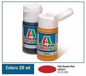 Italeri 4632 FLAT GUARDS RED 20ml