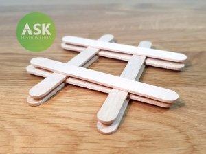 ASK T0070 Wooden Stick 92 x 9 mm (8 pcs)