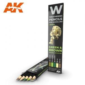 AK Interactive AK 10040 GREEN & BROWN: SHADING & EFFECTS SET