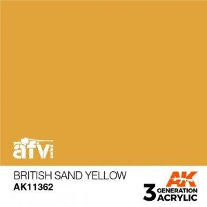 AK-Interactive AK 11362 British Sand Yellow 17ml