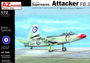 AZmodel AZ7599 Supermarine Attacker FB.2 1/72