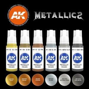 AK Interactive AK 11608 METALLICS SET 6x17 ml