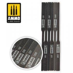 Ammo of Mig 8567 TAPERED SANDING STIK 120/180/240/320/1200/150 patyczki ścierne
