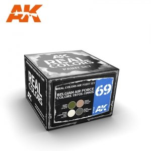 AK Interactive RCS069 BELGIAN AIR FORCE COLORS 1970S-1990S SET 4x10ml