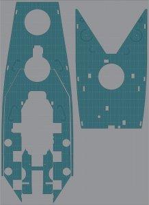 Pontos 35026WD1 USS BB-60 Alabama Wooden Deck set (1:350)