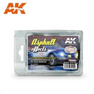 AK Interactive AK 8090 ASPHALT EFFECTS (RACE SET)