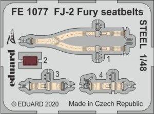 Eduard FE1077 FJ-2 Fury seatbelts STEEL 1/48 KITTY HAWK