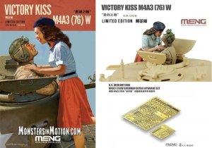 Meng Model ES-006 Sherman M4A3(76) + W Resin Figures + Sherman detail upgrade Set (PE) Victory Kiss M4A3(76) W 1/35
