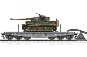 Hobby Boss 82934 Schwere Plattformwagen Type SSyms 80 & Pz.Kpfw.VI Ausf.E Tiger I (Mid production) 1/72