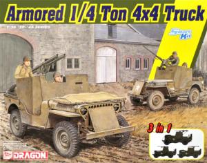 Dragon 6727 Armored 1/4-Ton 4x4 Truck w/.50-cal Machine Gun 1/35