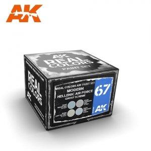 AK Interactive RCS067 MODERN HELLENIC AIR FORCE GHOST SCHEME SET 4x10ml