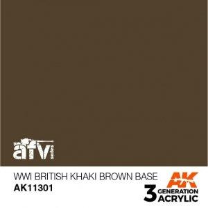 AK-Interactive AK 11301 WWI British Khaki Brown Base 17ml