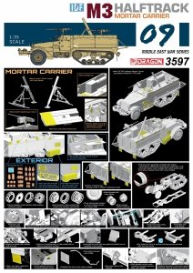 Dragon 3597 IDF M3 Halftrack Mortar Carrier (1:35)