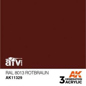 AK-Interactive AK 11329 RAL 8013 Rotbraun 17ml