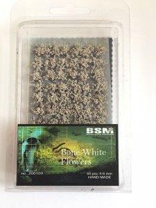 Bear`s Scale Modeling 200109 Bone White Flowers 4-6mm (60 pcs)