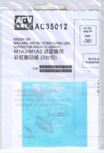 AFV Club AC35012 Sticker Anti Reflection Coating Lens for M1A1/M1A2 Abrams (1:35)